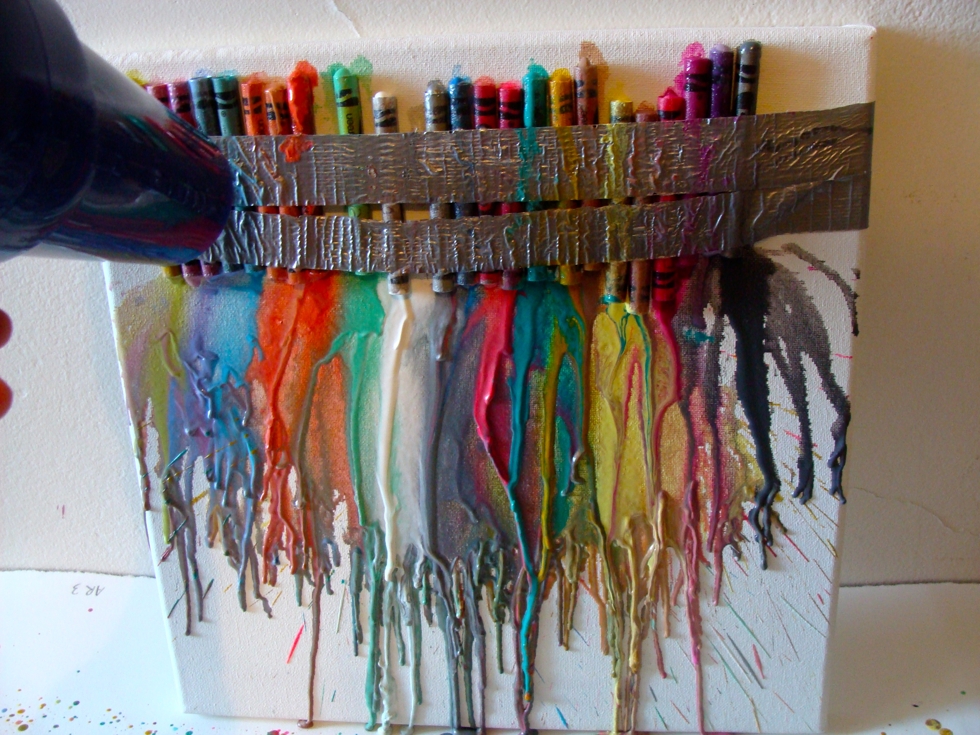 You Can Make It Monday Melted Crayon Art The Mid